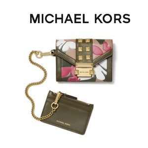MICHAEL KORS Whitney SM Butterfly Camo Chain NWT
